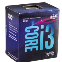 Intel Core i3  3.6GHz {  6MB / 1151)  9100 {9th Generation} Official