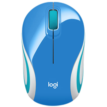 Logitech Mini Wireless Mouse M187 - Blue